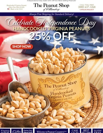 25% Off Our Gold Standard Peanuts!