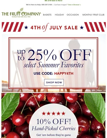 ⭐4th of July Sale ⭐Up to 25% off Summer Gifts