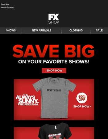 Save BIG On Your Favorite Shows!