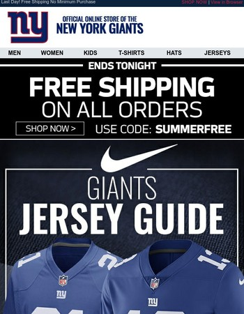 FREE Shipping Ends Today: Perfect Time to Jersey Up