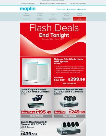 Flash Deals - End tonight!