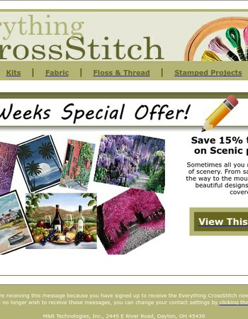 Save on Scenic Patterns at Everything Cross Stitch