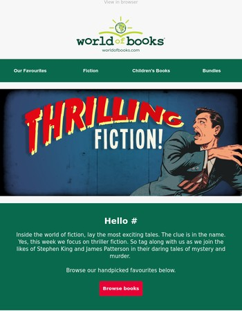 Thrilling fiction at the best prices