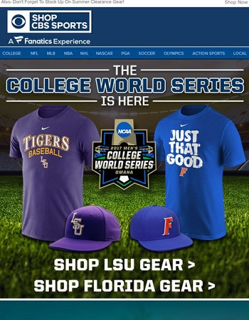 Gear Up For Tonight's Game 1 Of The College World Series!