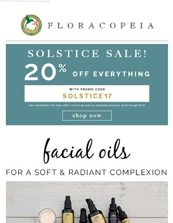 20% off ending + Curated for you: The top 3 facial oils for a soft, radiant complexion