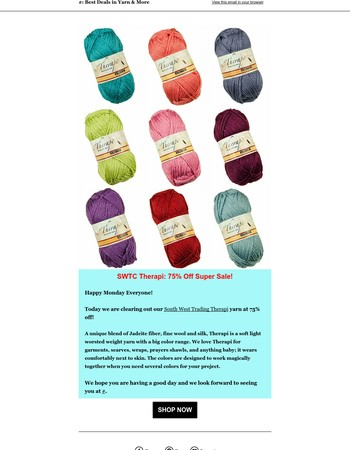 Silky Therapi: 75% Off Super Sale at Little Knits!
