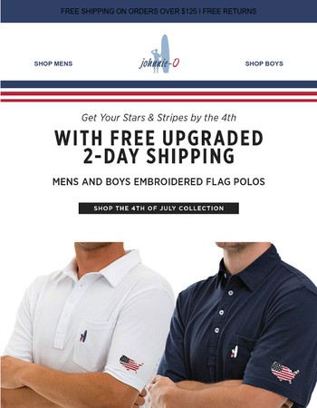We're Upgrading You! Free 2-Day Shipping