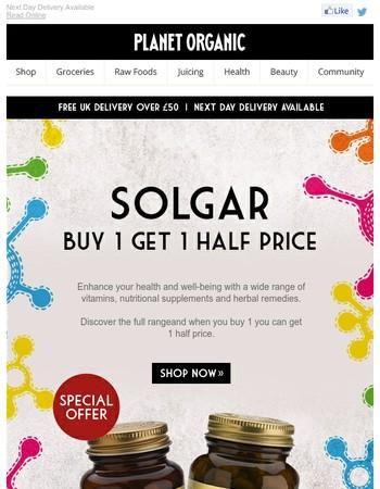 Buy 1 Get 1 Half Price OnSolgar