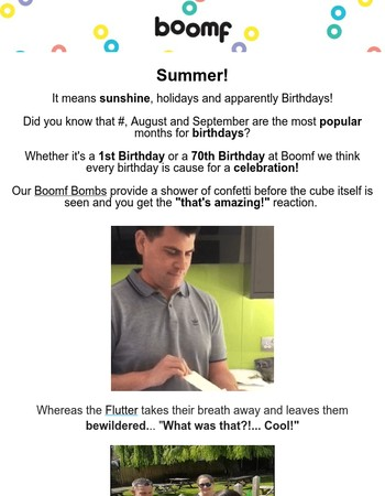 Bring back the SURPRISE in Happy Birthday!