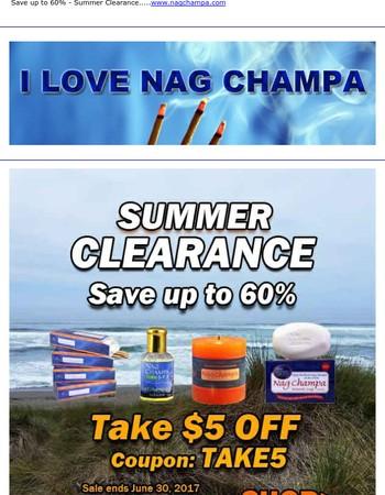$5 OFF Coupon + FREE Nag Champa Gold Incense