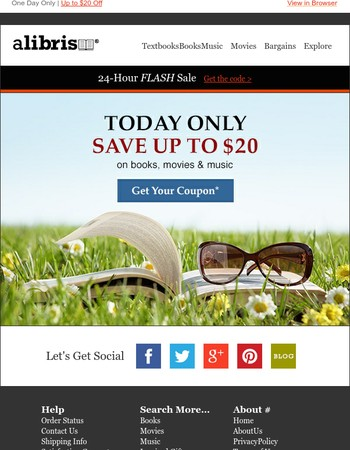 Flash Sale: Save $20 Today Only!