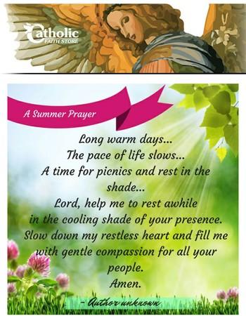 A Refreshing Summer Prayer