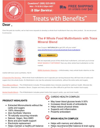 New Product & Coupon: Silver Fern Brand Whole Food Multivitamin