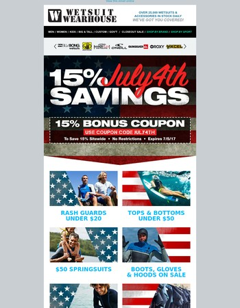 4th of July Savings - It's Not Too Late!