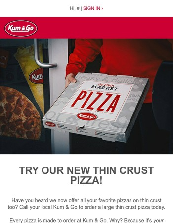 Try our NEW thin crust pizza recipe today!
