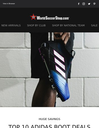 Top 10 adidas Boot Deals + Top Selling Jerseys!