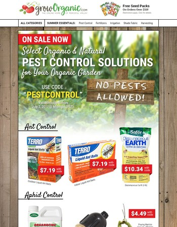 Pest Control Supplies are ON SALE! This Week Only!