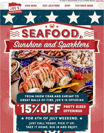 Joe's Crab Shack Newsletter