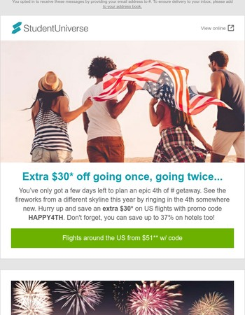 Our 4th of July sale is flying away!