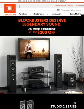 Save up to $200 and Bring Home Blockbuster Sound!
