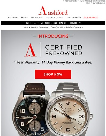 Introducing Ashford Certified Pre-Owned Watches