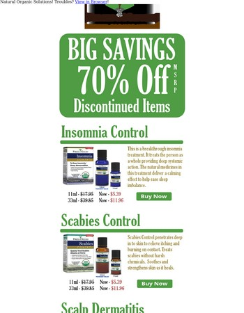 70% Off - Discontinued Items
