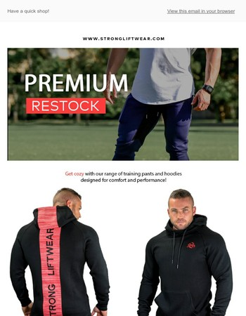 Strong Lift Wear Newsletter