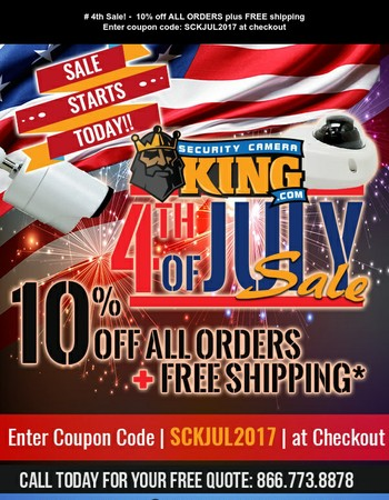 10% off All Orders + Free Shipping! July 4th Sale Starts Now!