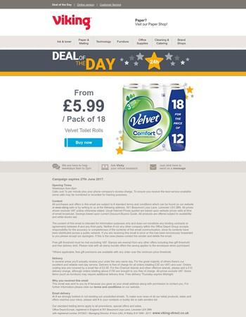 Deal of the Day: Velvet Toilet Rolls now from £5.99