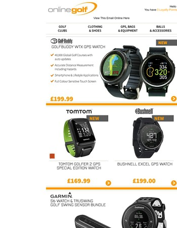 Stay on course with our fantastic range of Golf GPS and Digital Training Aids