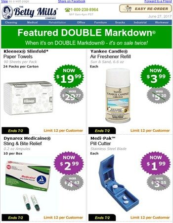 $1.99 & Up DOUBLE Markdown® Offers.
