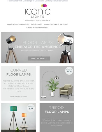 Embrace the Ambience | Inspiring Offers | Floor Lamps