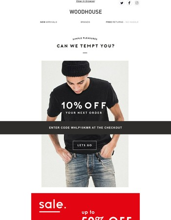 It's been too long! Here's 10% off.