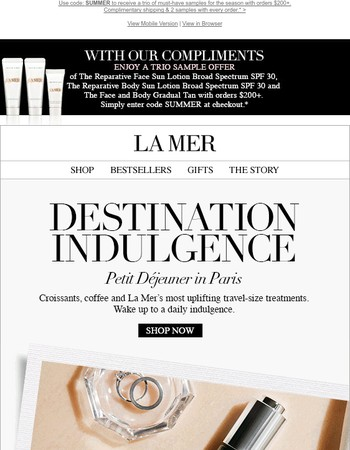 Discover La Mer's Most Uplifting Travel-Size Treatments