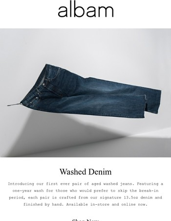 Introducing... Washed Denim