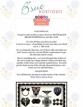 Matte Black Stampings 15% Off And Double Rewards Points, Inspiration Inside
