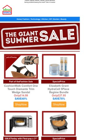 Grab giant summer savings up to 78% as our sale continues!