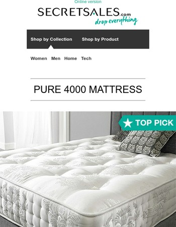 Today's Top Pick: PURE 4000 Mattress