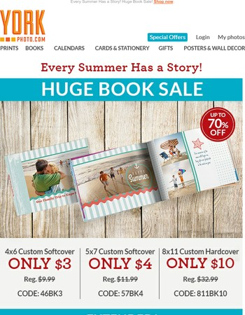 Hot Summer Savings Up To 78% Off! Plus BOGO Prints & Enlargements!