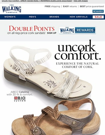 Birkenstock, Taos & ABEO - Natural Cork Comfort + REWARDS Bonus!