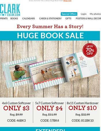 Hot Summer Savings Up To 78% Off! Plus BOGO Prints & Enlargements!