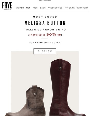 Just Reduced Melissa!