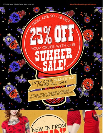 Final day to Save with our 25% Off, Sitewide, Summer Sale!