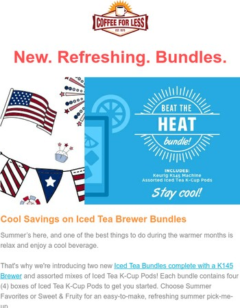 Introducing Beat the Heat Iced Tea Brewer Bundles. ☀