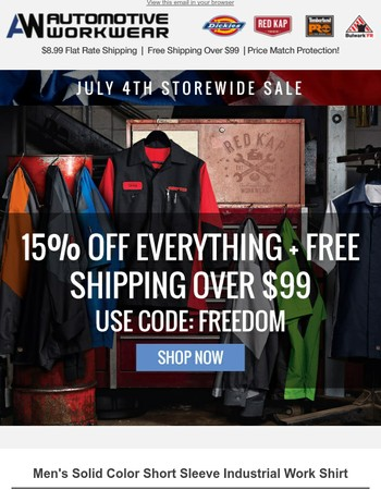 July 4th Sale! Get 15% Off All Items!