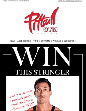Enter For a Chance To Win a FREE Stringer!