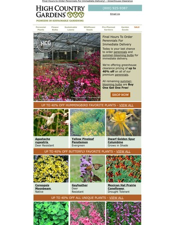 Greenhouse Clearance Ends Today - Up To 40% Off