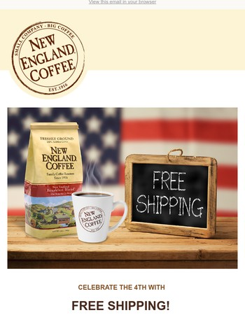 Free Shipping for the 4th!