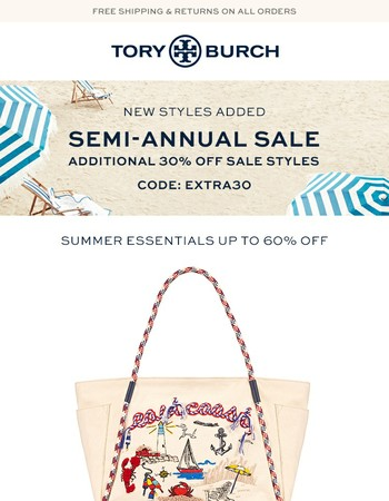 New styles added: additional 30% off summer essentials
