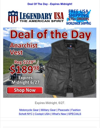 , Don't Miss the Deal of the Day - Ends Tonight!